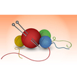 Balls of wool vector image vector image