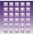 Big set of square buttons with different glamorous vector image vector image