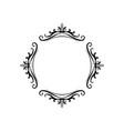 black classic contour vintage frame vector image vector image