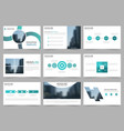 blue circle abstract presentation templates vector image vector image
