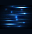blue line glow light background vector image
