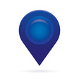 blue map pointer icon marker gps location flag vector image vector image