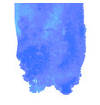 blue watercolor stain vector image vector image