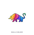 bull color template vector image