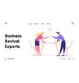 business people dispute disagreement challenge vector image vector image