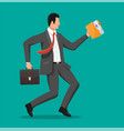 businessman is fast running vector image