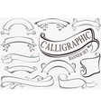 Calligraphic Banner Set vector image vector image