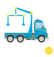 cartoon transport tow truck vector image vector image