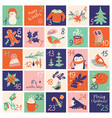 christmas advent calendar with hand drawn vector image