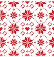 christmas or winter scottish fair isle pattern vector image vector image