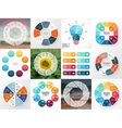 Circle arrows infographics set Template for cycle vector image vector image
