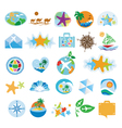 collection icons for travel and tourism vector image