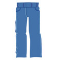 coloured blue jeans vector image vector image