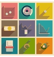 Concept of flat icons with long shadow economic vector image vector image
