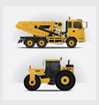 construction vehicles vector image