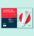 cosmetic cream tube on modern site template vector image vector image
