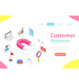 customer retention strategy flat isometric vector image