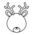 cute and tender reindeer head character vector image vector image