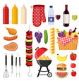 different special tools and food vector image