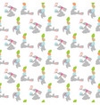 easter rabbit seamless pattern vector image