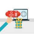 ecommerce technology strategy to shopping online vector image