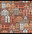 europe house seamless pattern cute architecture vector image vector image