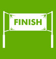 finish line gates icon green vector image vector image