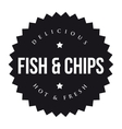 Fish and Chips vintage black stamp vector image vector image