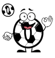 Funny cartoon number zero in football or soccer vector image vector image