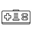 game joystick icon outline style vector image vector image