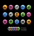 gardening icon set - gelcolor series vector image
