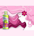 hair conditioner ads paper cut vector image vector image