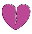 heart love broken icon vector image