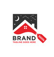 home sales logo design vector image vector image