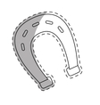 horseshoe equine or luck icon image vector image vector image