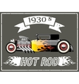 Hot rod car vector image vector image