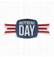 Independence Day paper Label with Type and Ribbon vector image vector image