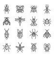 insects thin line vector image