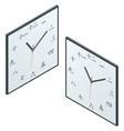 Japanese clock Japanese Character Wall Clock vector image
