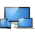 laptop tablet desktop mobile vector image vector image