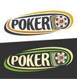 logo for poker vector image vector image