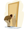 man and door vector image