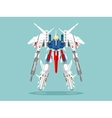 Military robot transformer vector image vector image