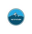 mountain business logo vector image vector image