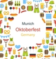 Oktoberfest Border Frame vector image vector image