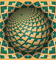 optical sphere abstract background vector image