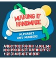 Paper alphabet letters and numbers with cloud vector image vector image