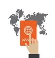 passport3 vector image vector image