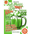 patricks day party vector image