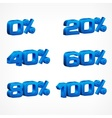 Percentage numbers vector image vector image